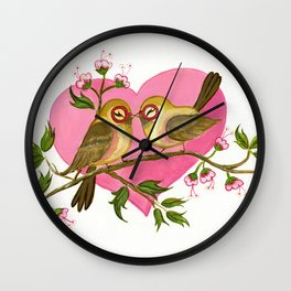 Nerdy Smooches Wall Clock