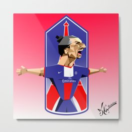 """I am Zlatan"" Metal Print"