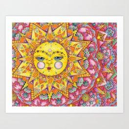 Sleepy Sunset Art Print