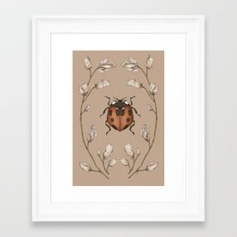 The Ladybug and Sweet Pea Framed Art Print