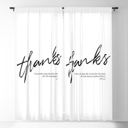 O Give Thanks Unto the Lord for He Is Good For His Mercy Endures Forever. -Psalm 136:1 Blackout Curtain