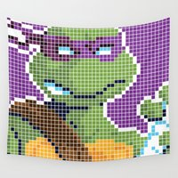 ninja turtles Wall Tapestries featuring Teenage Mutant Ninja Turtles - Donatello by James Brunner