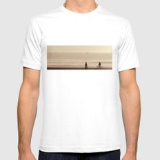 sea shore walk White Mens Fitted Tee MEDIUM