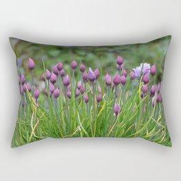 Flowers-Purple Flowers-Chives Rectangular Pillow
