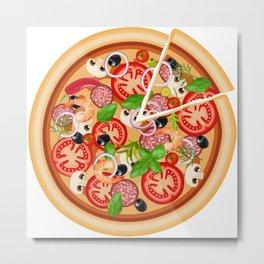 Italia Pizza time Metal Print