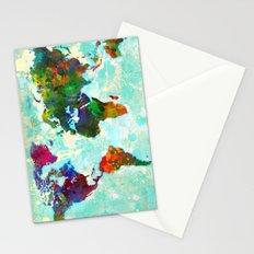 World Map - 1 Stationery Cards