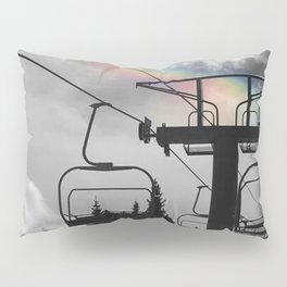 4 Seat Chair Lift Rainbow Sky B&W Pillow Sham