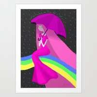 princess bubblegum Art Prints featuring Princess Bubblegum by theconsy