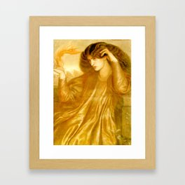 "Dante Gabriel Rossetti ""The Women of the Flame"" Framed Art Print"