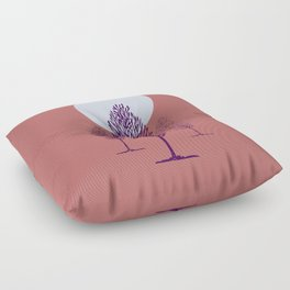 rosa di sera Floor Pillow
