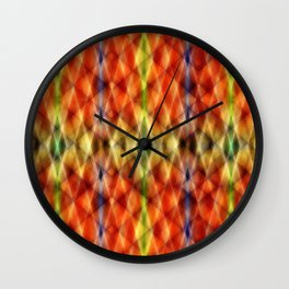 Pattern rhombs orange 2 Wall Clock