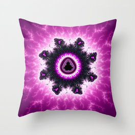 Purple Mandelbrot Fractal Art Print Throw Pillow