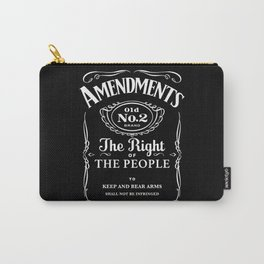 2nd Amendment Whiskey Bottle Carry-All Pouch