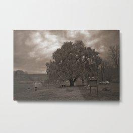 Gray sky day at Blue Marsh Lake. Metal Print