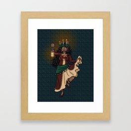 December Fairy Framed Art Print