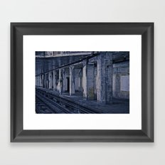 Empty Station Framed Art Print