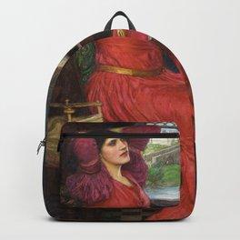 I am Half-Sick Of Shadows Lady of Shalott By John William Waterhouse Backpack
