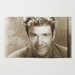 Mel Gibson Mug Shot Vertical Sepia Rug