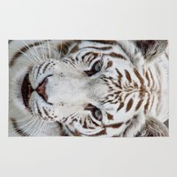 tiger Area & Throw Rugs featuring TIGER TIGER by Catspaws