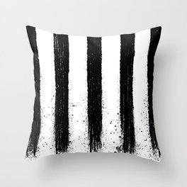 Painted Lines Throw Pillow