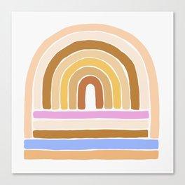 rainbow : tan Canvas Print