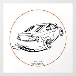 Crazy Car Art 0221 Art Print