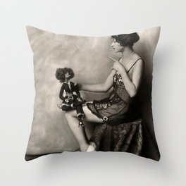 Naughty Dolly Throw Pillow
