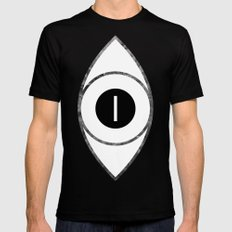 EYE of Line Mens Fitted Tee MEDIUM Black
