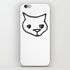 Concerned Cat iPhone & iPod Skin