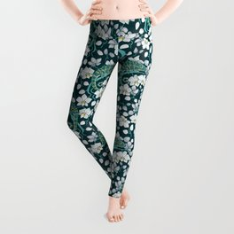 Chameleons and orchids Leggings