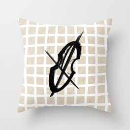 Cello Music Fan Musician Drawing Throw Pillow