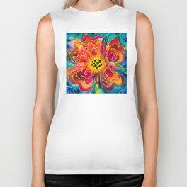 Summer Love Flower Art By Sharon Cummings Biker Tank