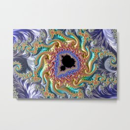 Colorful Slopes Mandelbrot Fractal Metal Print