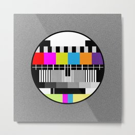 Television Color Test Metal Print
