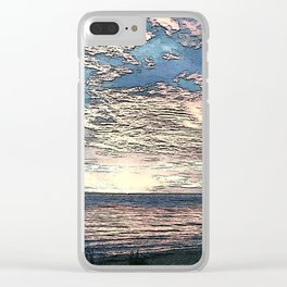 Twilight Blue Clear iPhone Case