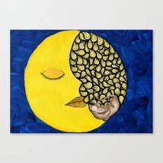 Mouse in the Moon Canvas Print