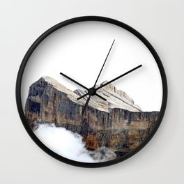 Rock Face White Cloud Sky Wall Clock