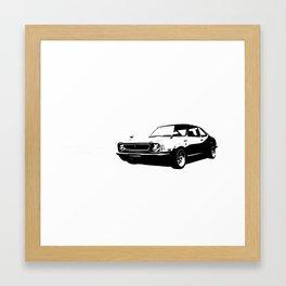 TE black/white Framed Art Print