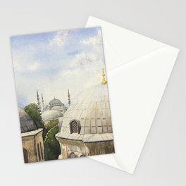 Blue mosque Stationery Cards