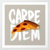 carpe diem Art Prints featuring Carpe Diem by Vaughn Pinpin