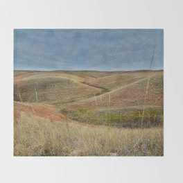 October in Grasslands National Park Throw Blanket