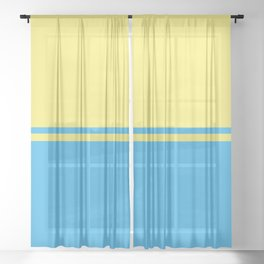 Solid&Solid: Yellow + Blue Sheer Curtain