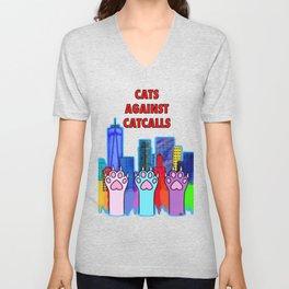 Cats Against Catcalling Unisex V-Neck