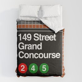 subway grand concourse sign Comforters