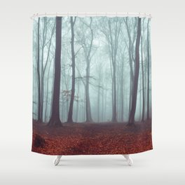 Forest Magic - Foggy Forest Scene Shower Curtain