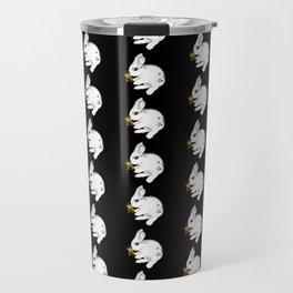 Some'bunny' Loves you...LOTS! (on black) Travel Mug