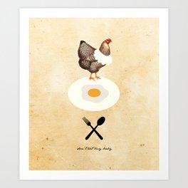Don't Eat My Baby. Art Print