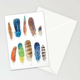 PAPATTERN FEATHERS Stationery Cards