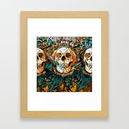 Old Skull Framed Art Print