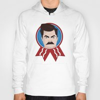ron swanson Hoodies featuring Ron Swanson by creative.court